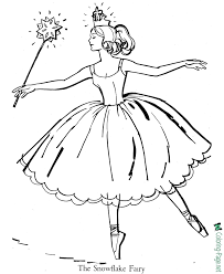 Cute snowman coloring pages ideas for toddlers. Ballet Coloring Pages The Snowflake Fairy