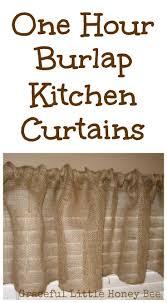 Curtain Patterns For Kitchen 25 Best Ideas About Burlap Kitchen Curtains On Pinterest