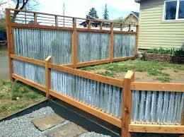 used corrugated metal fence cost panels home depot