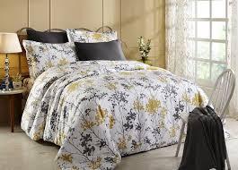 donetella king size cotton flower pattern beige duvet covers