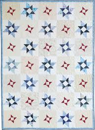 40 best Patriotic Quilt Patterns and Other Projects images on ... & The Wind Spinners lap quilt pattern meets the requirements for a Quilt of  Valor. Pinwheel star blocks made with scrap fabrics add up to a wonderful  ... Adamdwight.com