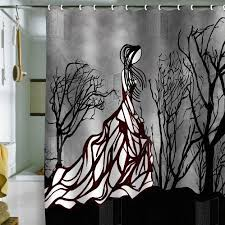 cool shower curtains. This Would Be A Really Cool Charcoal Drawing Deny Designs Amy Smith Lost In The Woods Shower Curtain Curtains N