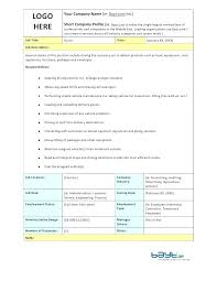 Job Duties Template Contractor Description Senior Civil Engineer ...
