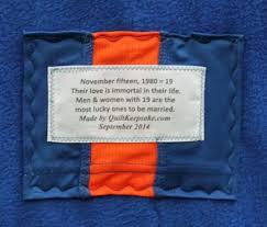 Memorial Quilts & Memorial 40x54 Quilt Label Adamdwight.com