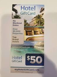 50 gift card to hilton marriott and radisson