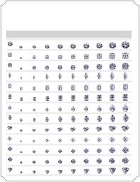 Emerald Cut Stone Size Chart Actual Diamond Size Chart Free Download