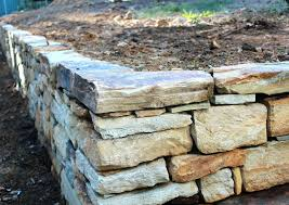 sandstone wall repair gully sandstone dry stone retaining wall south fieldstone wall repair cost