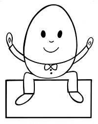 humpty dumpty coloring page free pages on art
