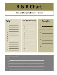 Role And Responsibilities Chart Template Free Printable