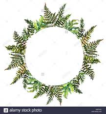 Forest Tern Watercolor Wreath Frame Design With Place For Date And