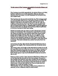 to what extent is friar lawrence responsible for the deaths of  page 1 zoom in