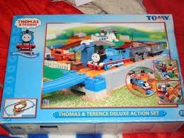 thomas friends train ride on and track set boxed sets orig thomas and friends ride on train set wooden