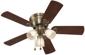 new centreville 42 in antique brass indoor flush mount ceiling fan light kit