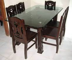 diy mdf furniture. Mdf Dining Table Modern Solid Wood Furniture With Six Chairs Diy