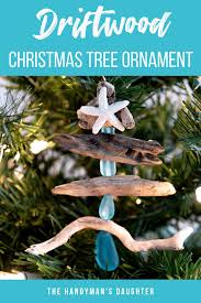 diy driftwood tree ornament