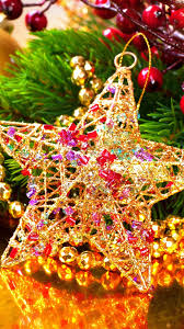 Gold Star Decoration Beads Berries Christmas 1080x1920