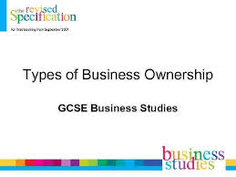 Business Ownership Types Types Of Business Ownership Gcse Business Studies