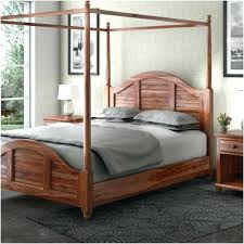 Canopy Bed Wood Sierra Living Concepts King Size Solid Wood Canopy ...
