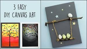 3 Easy DIY <b>Canvas</b> Art | <b>Home Decor</b> - YouTube
