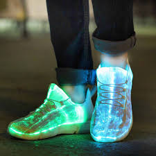 Light Up Roshes Luminous Sneakers Glowing Light Up Shoes For Kids White Led