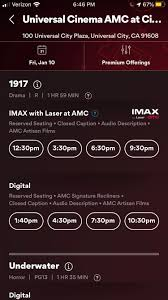 1917 IMAX showtimes available for Universal Citywalk Hollywood this weekend  ! : AMCsAList