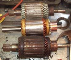 bellview tech the s daddy com x and off road the new ramsey motor armature is in the middle the best warn is on the top and the worst warn is bottom i think the bottom one was mounted to the winch