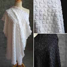 Crochet Garment Design 85x65cm Crushed Chiffon Woven Geometric Three Dimensional