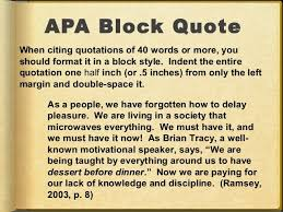Block Quotes Apa Enchanting Block Quotes Apa Best Using Apa Style Inserting A Block Quote