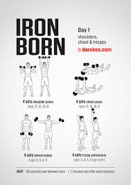 ironborn 30 day muscle definition dumbbell program by darebee darebee darbee workout fitness
