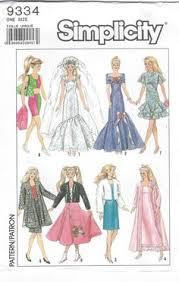 Barbie Doll Clothes Patterns Beauteous Free Printable Doll Clothes Patterns BARBIE DOLL CLOTHING PATTERNS
