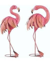 flamingo garden statue. Brilliant Flamingo Pink Flamingo Garden Pair Coastal Birds Metal Pool Pond Lawn Statues  Sculptures And Statue O