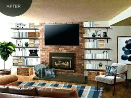 floating shelves fireplace modern house floating shelves next to fireplace interior decor home shelves next to