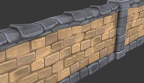 painted stone wallpainted stone wall 3d 3ds