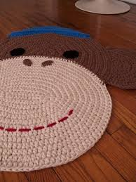 adorable hand crocheted rugs from peanut er dynamite via toby roo daily inspiration
