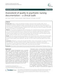 Nursing Assessment Charting Pdf Assessment Of Quality In Psychiatric Nursing