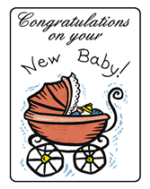 Congratulate On New Baby Free Printable Congratulations On Your New Baby Greeting Cards