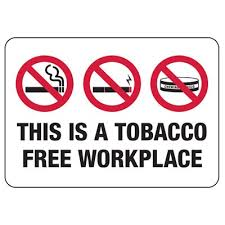 No Smoking Signage No Smoking Signs Tobacco Free Workplace Seton