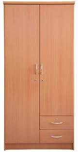 2 door wooden wardrobe posts