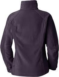 columbia purple enton springs full zip fleece jacket lyst