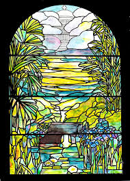 painting stained glass holy city memorial window by donna walsh