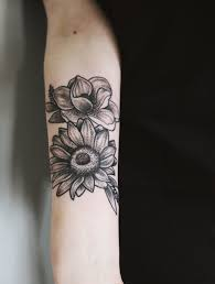 Sunflower And Magnolia Tattoo My Newest Baby My Style