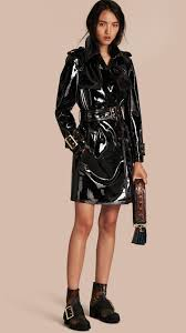unlined patent leather trench coat burberry