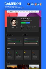 Cameron Material Cv Resume Vcard Portfolio Html Template