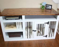 dog bed furniture. Made To Order Custom Built Dog Crate Furniture, Kennel Solid Wood With Shelves, TV Stand, Table. Pet Bed Furniture V