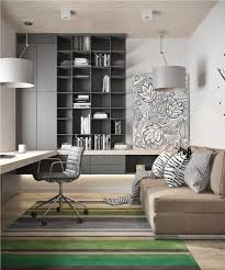 furniture small home office design painted. Home Decor, Modern Office Design Small Ideas With Black And White Furniture Painted E