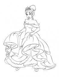 free printable princess tiana coloring pages for kids princess and the frog coloring pages