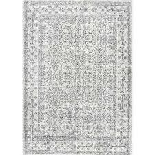 vintage waddell grey 6 ft 7 in x 9 ft area rug