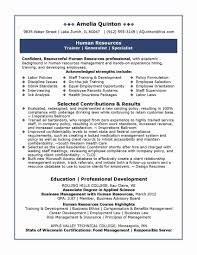 Best Of Human Resource Resume Template New American Resume Sample