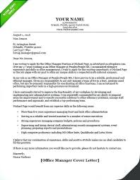 Cover Letter Office Manager Examples Thesis For