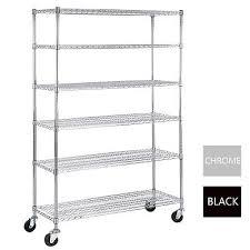 6 tier adjustable wire shelving rack 82 x48 x18 heavy duty layer steel